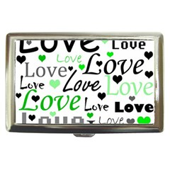 Green  Valentine s day pattern Cigarette Money Cases