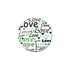 Green  Valentine s day pattern Golf Ball Marker
