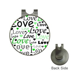 Green  Valentine s day pattern Hat Clips with Golf Markers