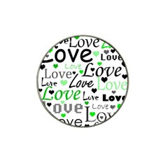 Green  Valentine s day pattern Hat Clip Ball Marker (10 pack)