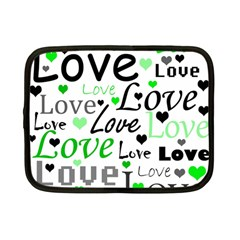 Green  Valentine s day pattern Netbook Case (Small)