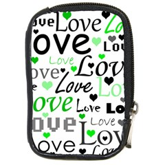 Green  Valentine s day pattern Compact Camera Cases