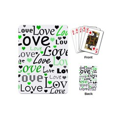 Green  Valentine s day pattern Playing Cards (Mini)