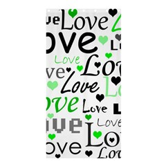 Green  Valentine s day pattern Shower Curtain 36  x 72  (Stall)