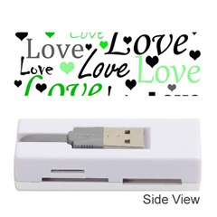 Green  Valentine s day pattern Memory Card Reader (Stick)