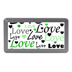 Green  Valentine s day pattern Memory Card Reader (Mini)