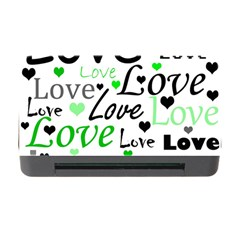 Green  Valentine s day pattern Memory Card Reader with CF