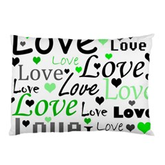 Green  Valentine s day pattern Pillow Case (Two Sides)