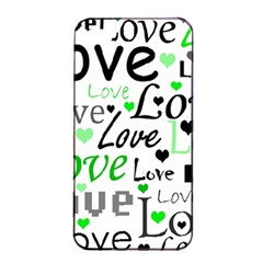 Green  Valentine s day pattern Apple iPhone 4/4s Seamless Case (Black)
