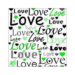 Green  Valentine s day pattern Acrylic Tangram Puzzle (6  x 6 )