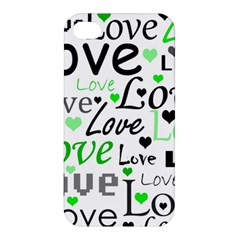 Green  Valentine s day pattern Apple iPhone 4/4S Premium Hardshell Case