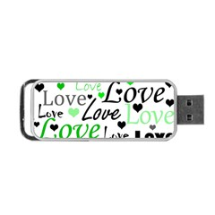 Green  Valentine s day pattern Portable USB Flash (Two Sides)