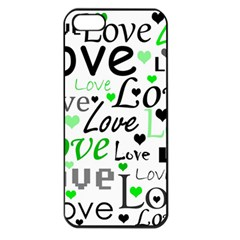 Green  Valentine s day pattern Apple iPhone 5 Seamless Case (Black)