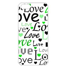 Green  Valentine s day pattern Apple iPhone 5 Seamless Case (White)