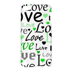 Green  Valentine s day pattern Apple iPod Touch 5 Hardshell Case