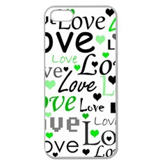 Green  Valentine s day pattern Apple Seamless iPhone 5 Case (Clear)