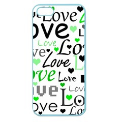 Green  Valentine s day pattern Apple Seamless iPhone 5 Case (Color)
