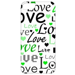 Green  Valentine s day pattern Apple iPhone 5 Classic Hardshell Case