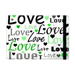 Green  Valentine s day pattern Apple iPad Mini Flip Case