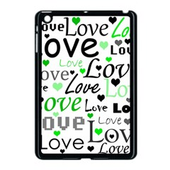 Green  Valentine s day pattern Apple iPad Mini Case (Black)