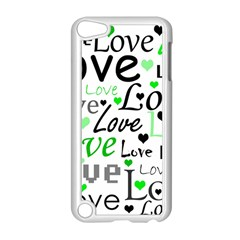 Green  Valentine s day pattern Apple iPod Touch 5 Case (White)