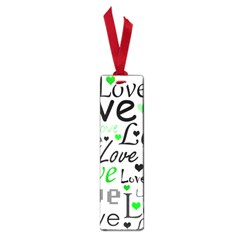 Green  Valentine s day pattern Small Book Marks