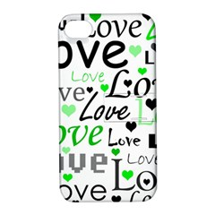 Green  Valentine s day pattern Apple iPhone 4/4S Hardshell Case with Stand