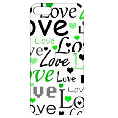 Green  Valentine s day pattern Apple iPhone 5 Hardshell Case with Stand