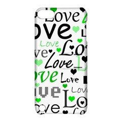 Green  Valentine s day pattern Apple iPod Touch 5 Hardshell Case with Stand