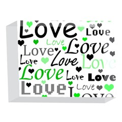 Green  Valentine s day pattern 5 x 7  Acrylic Photo Blocks