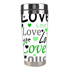 Green  Valentine s day pattern Stainless Steel Travel Tumblers