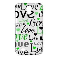 Green  Valentine s day pattern Samsung Galaxy Mega 6.3  I9200 Hardshell Case
