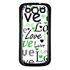 Green  Valentine s day pattern Samsung Galaxy S3 Back Case (Black)