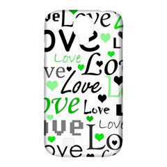 Green  Valentine s day pattern Samsung Galaxy S4 Classic Hardshell Case (PC+Silicone)