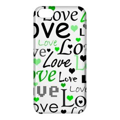 Green  Valentine s day pattern Apple iPhone 5C Hardshell Case