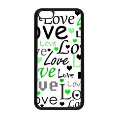Green  Valentine s day pattern Apple iPhone 5C Seamless Case (Black)