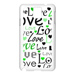 Green  Valentine s day pattern Samsung Galaxy Note 3 N9005 Case (White)