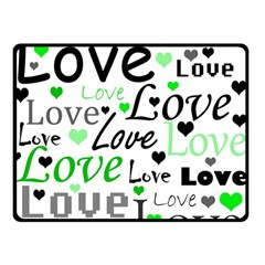 Green  Valentine s day pattern Double Sided Fleece Blanket (Small)