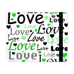Green  Valentine s day pattern Samsung Galaxy Tab Pro 8.4  Flip Case