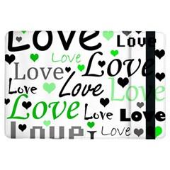 Green  Valentine s day pattern iPad Air Flip