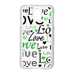 Green  Valentine s day pattern Samsung Galaxy S5 Case (White)