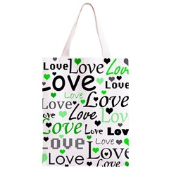 Green  Valentine s day pattern Classic Light Tote Bag