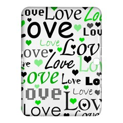 Green  Valentine s day pattern Samsung Galaxy Tab 4 (10.1 ) Hardshell Case