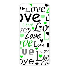 Green  Valentine s day pattern Apple Seamless iPhone 6 Plus/6S Plus Case (Transparent)