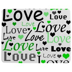 Green  Valentine s day pattern Jigsaw Puzzle Photo Stand (Rectangular)