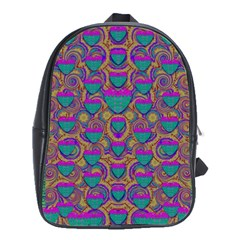 Merry Love In Heart  Time School Bags(Large)
