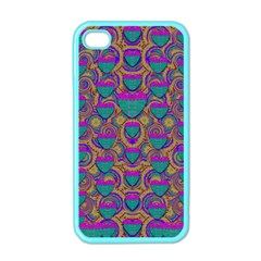 Merry Love In Heart  Time Apple iPhone 4 Case (Color)