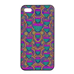 Merry Love In Heart  Time Apple iPhone 4/4s Seamless Case (Black)