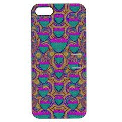 Merry Love In Heart  Time Apple iPhone 5 Hardshell Case with Stand