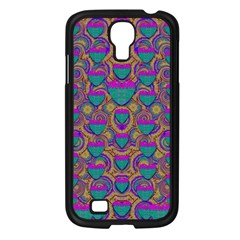 Merry Love In Heart  Time Samsung Galaxy S4 I9500/ I9505 Case (Black)